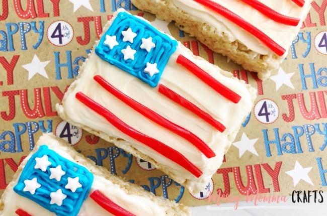 4th of July Flag Rice Krispie Treats