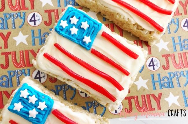 4th of July Flag Rice Krispie Treats