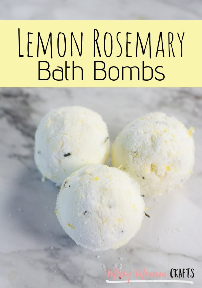 Relax in the tub with these homemade Lemon Rosemary Bath Bombs.