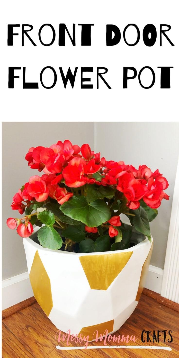 Front door flower pot.