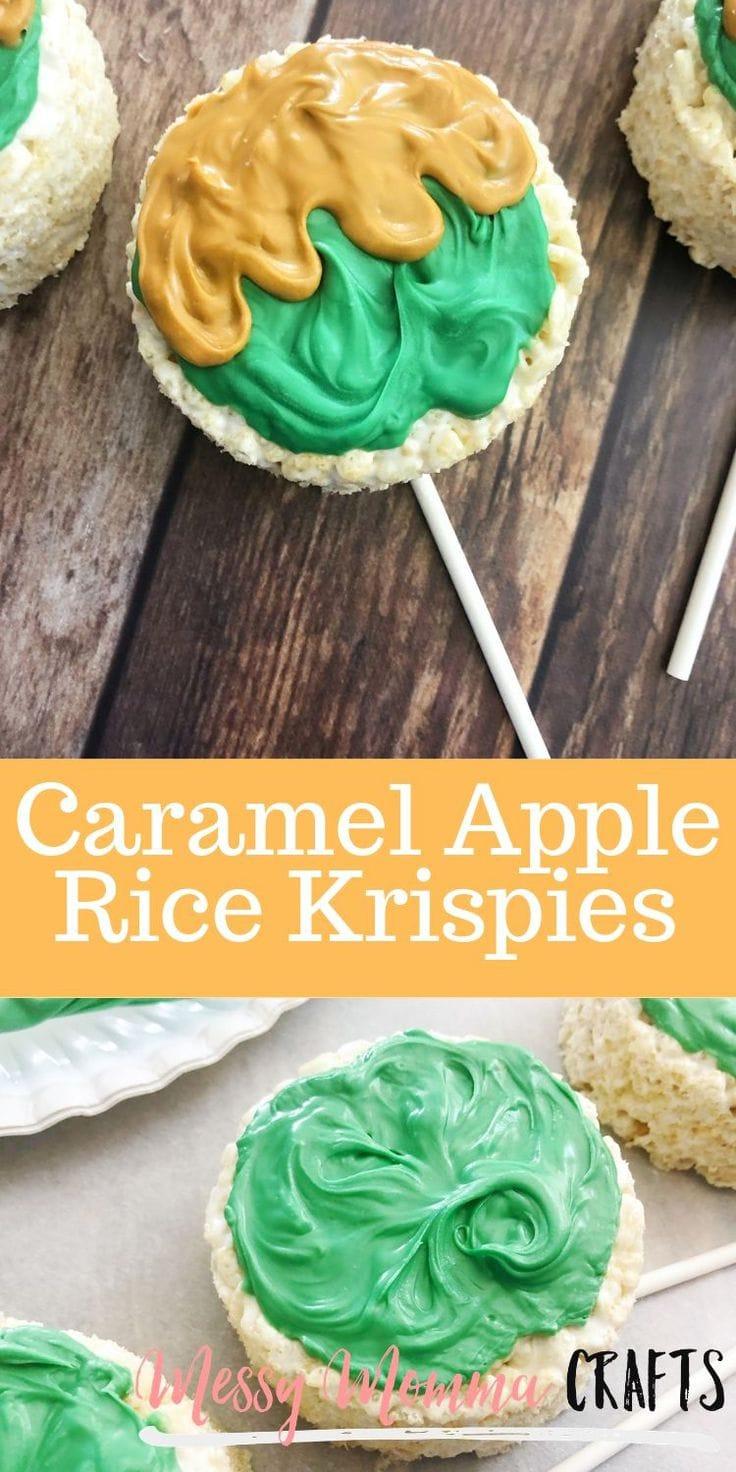 Caramel apple rice krispies.