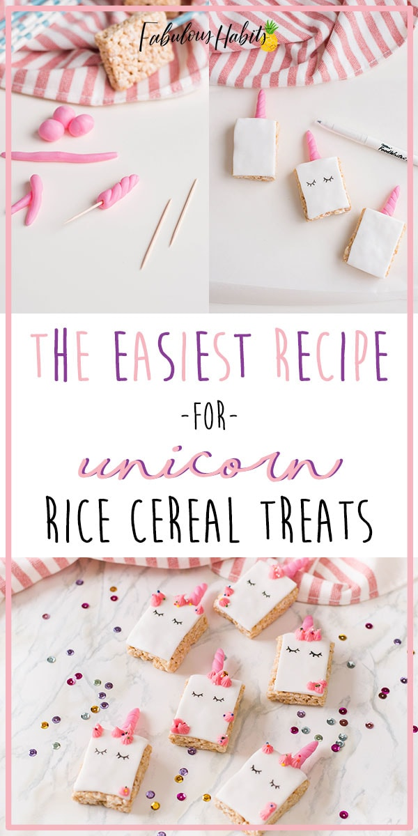 Learn how to make these ultra cute unicorn rice krispie treats - and they're super easy to whip-up, too! #unicorndessert