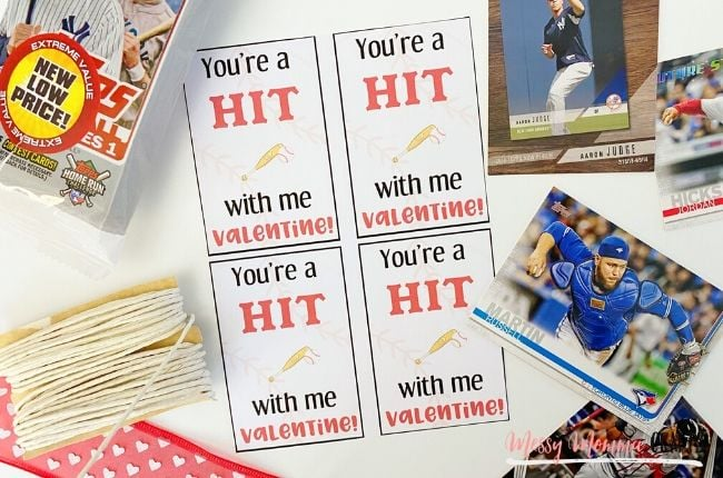 These Baseball Card Valentine Cards are the perfect way to celebrate Valentine's Day with your friends.