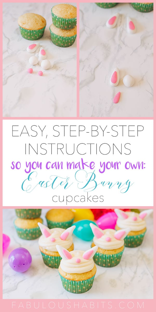 How to make the cutest (and simplest!) Bunny Cupcakes - perfect for Easter! Your kids will love making them with you, too. #easterdessertideas