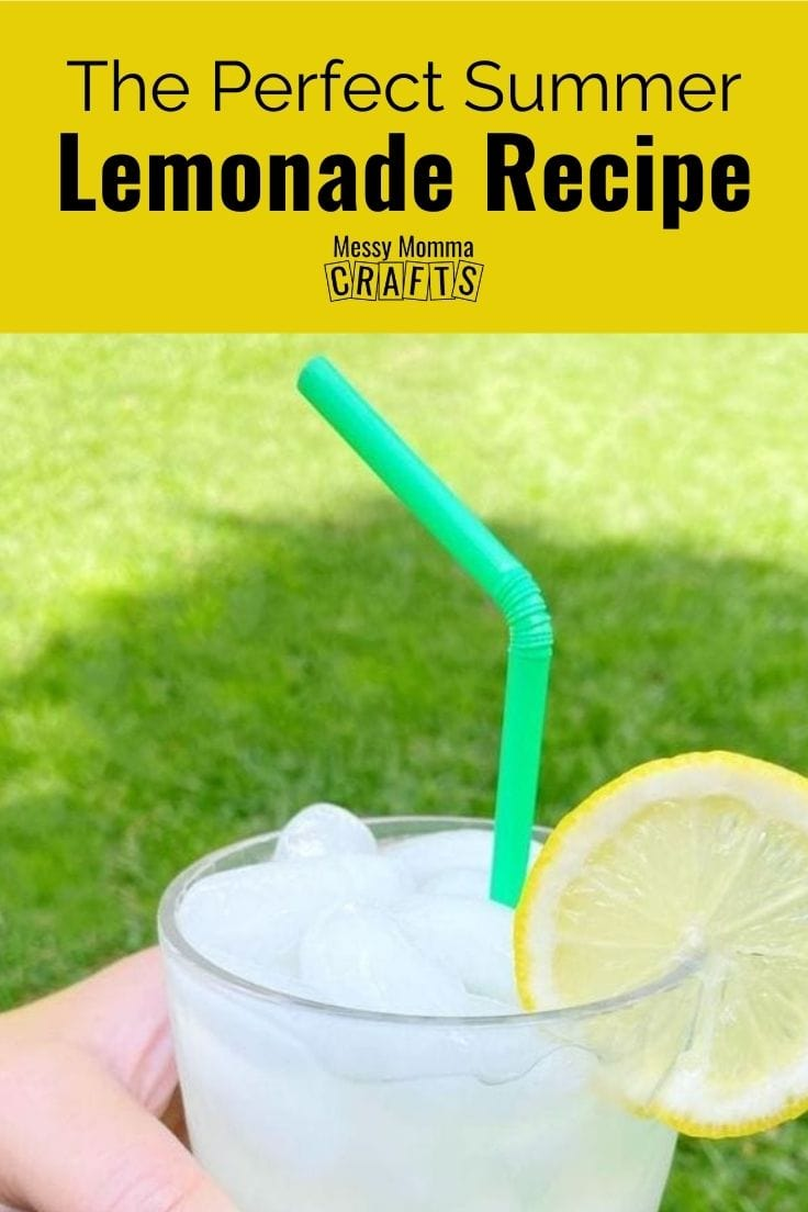 The perfect summer lemonade recipe with fresh lemon slices.