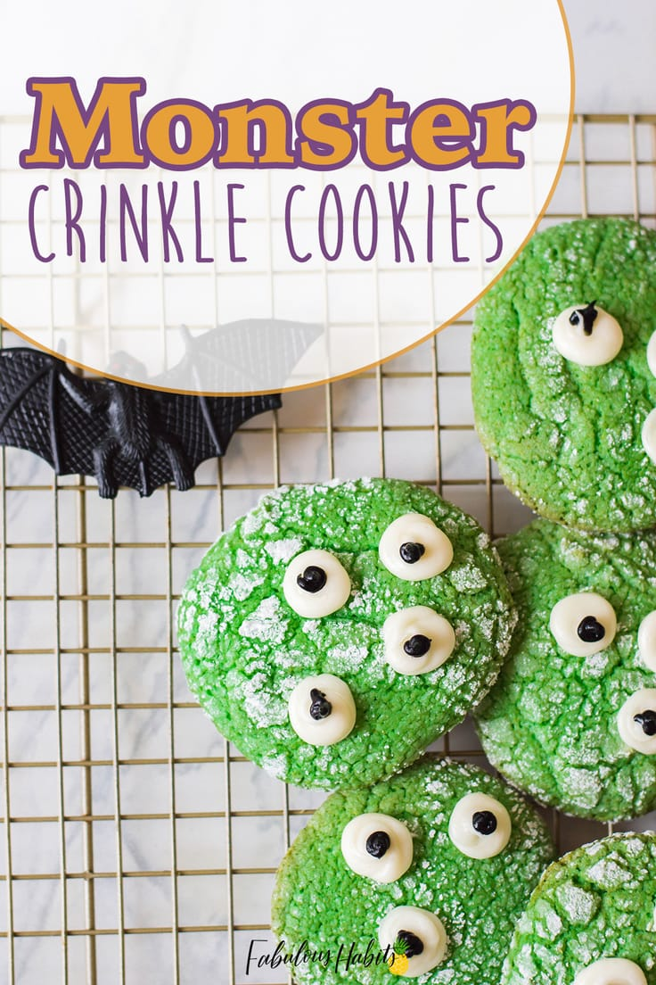 HALLOWEEN MONSTER COOKIES! Monster cookies for the win - and they're made with a cake mix, so you know they're super simple to make. Plus, they're ultra sweet, which makes them perfect for October 31st.