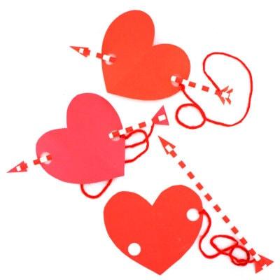 Cupid's Arrow Valentine's Day Heart Craft