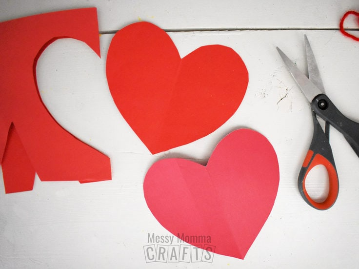 Red paper hearts.