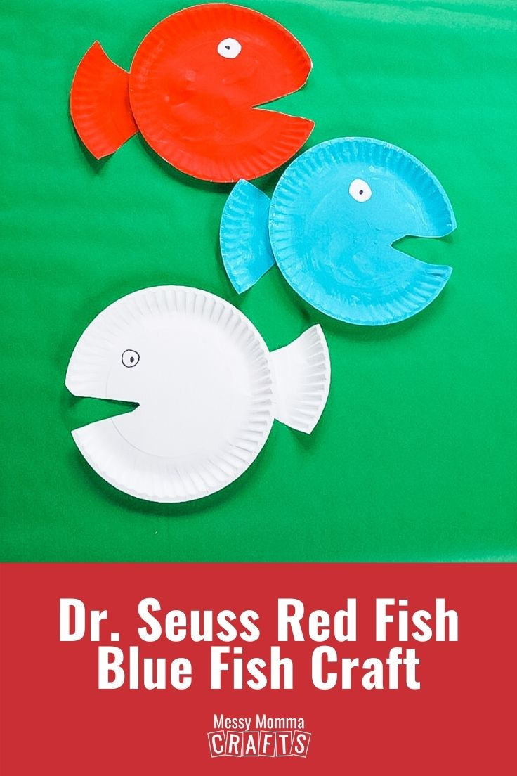Dr. Seuss red fish blue fish craft.