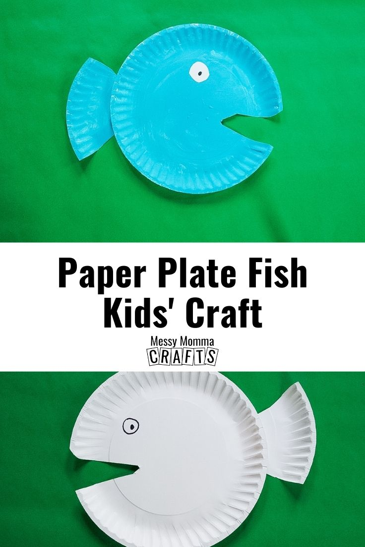 Paper plate fish kids' craft.