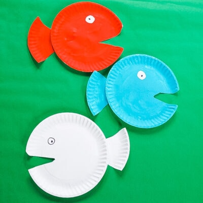 Dr. Seuss Red Fish Blue Fish Craft