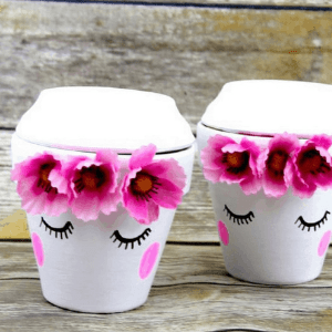 cute face planters made by Ever After In The Woods