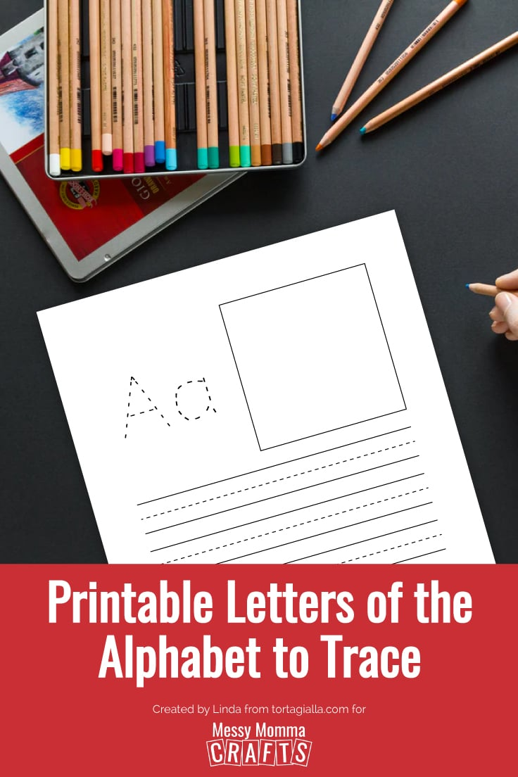 Preview of letter A printable letters of the alphabet tracing worksheet.