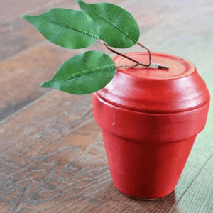 Flower pot apple from Ever After in the Woods.