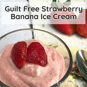 Bowl of strawberry banana soft serve.