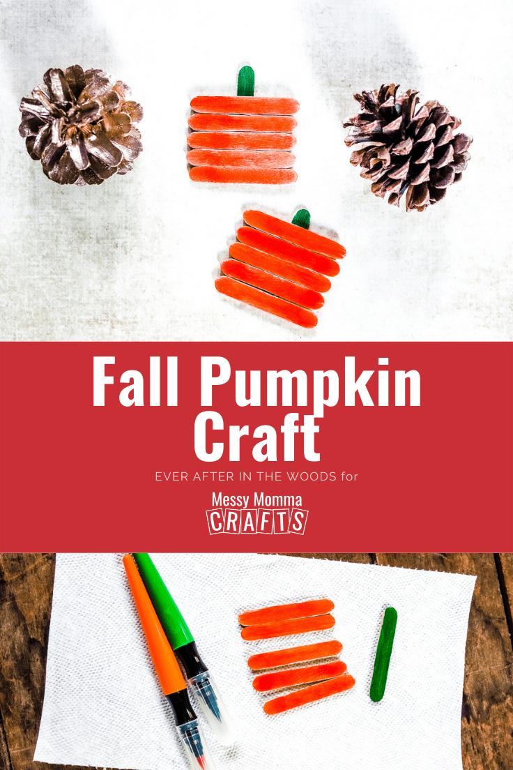 Fall pumpkin craft.