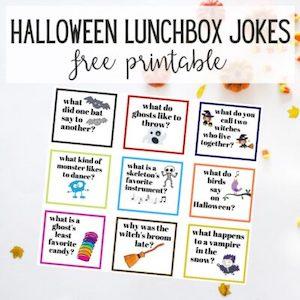 Halloween lunch box jokes from Trish Sutton.