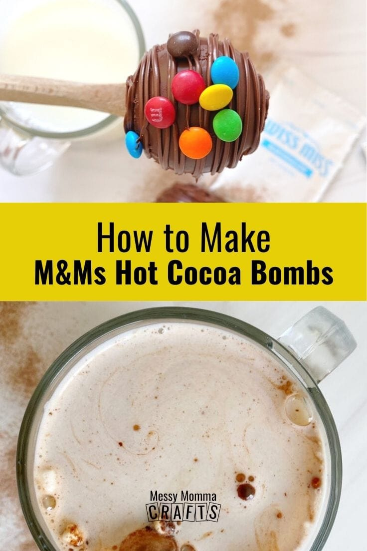 How to make M&Ms hot cocoa bombs.