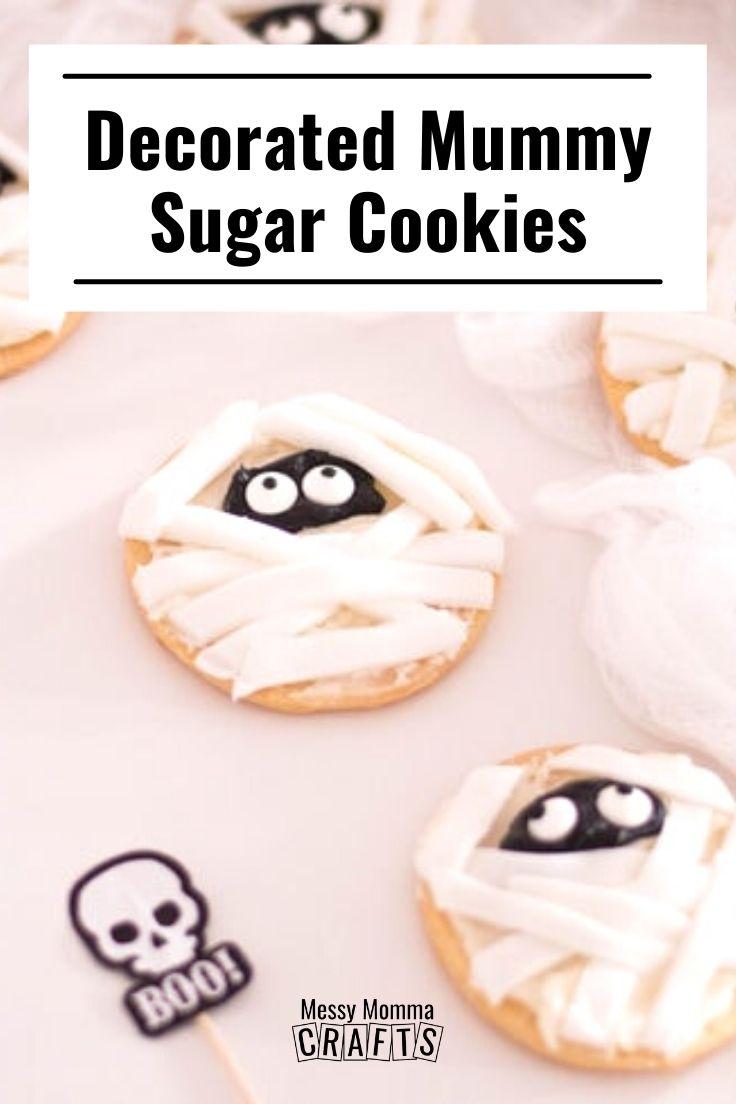 Decorated mummy sugar cookies.